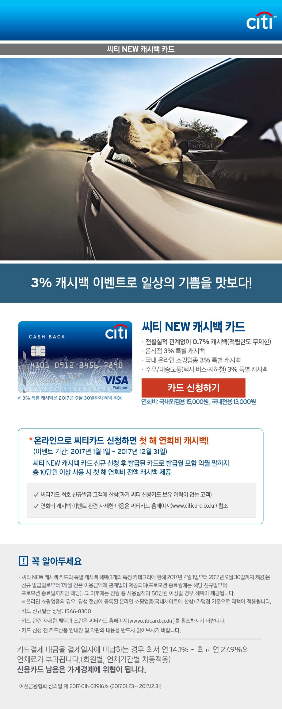 씨티 NEW 캐시백 카드
