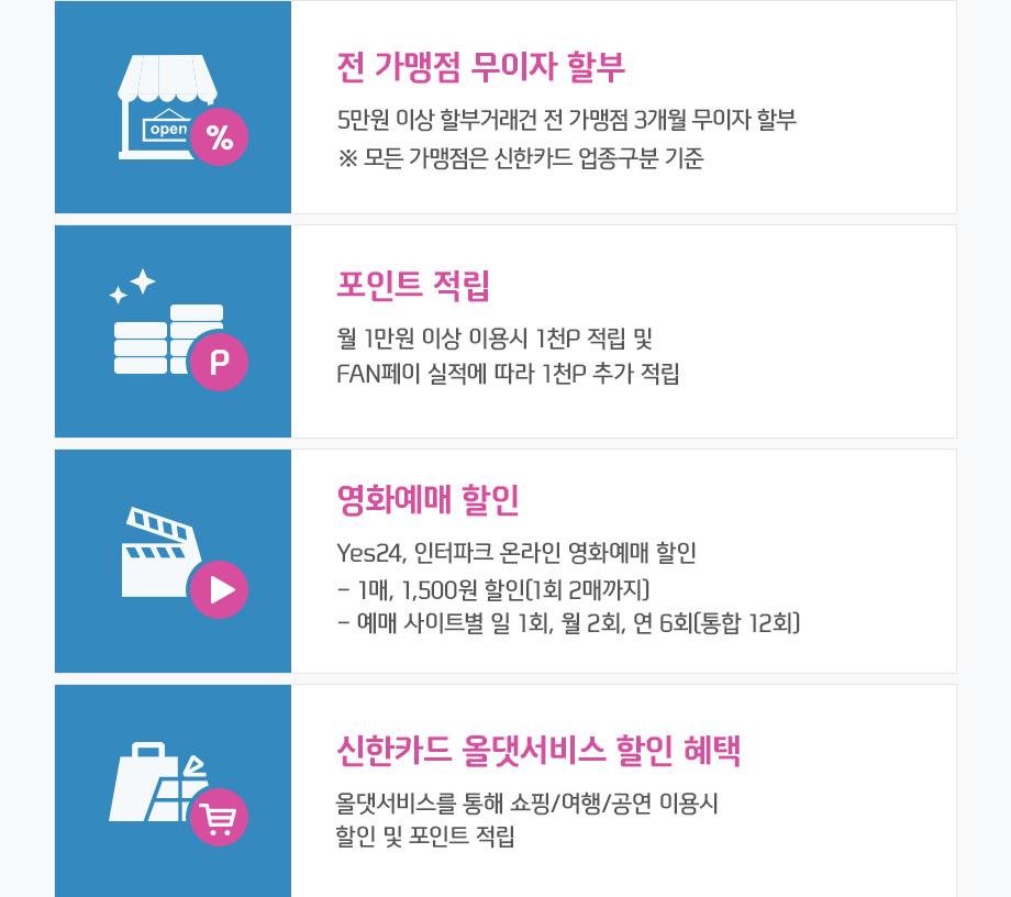 신한카드 B.Big 상세내용